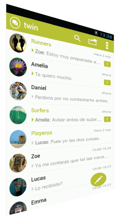 Bandeja TWIN Messenger app