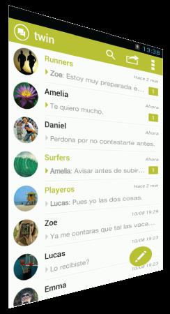 Bandeja TWIN Messenger app